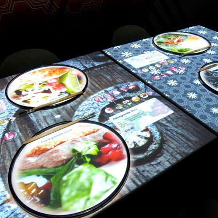 Inamo restaurant E-Table digital dining and interactive menu